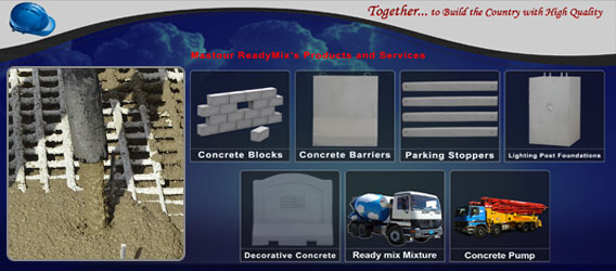 Concrete : ready mix, precast, barrier and block